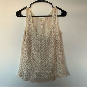 Sheer Lace Tank Top